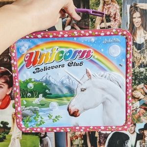 NWOT Unicorn Believers Club Tin Lunchbox